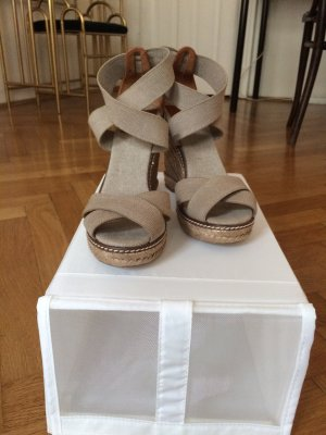 Tory Burch High-Heeled Sandals multicolored linen