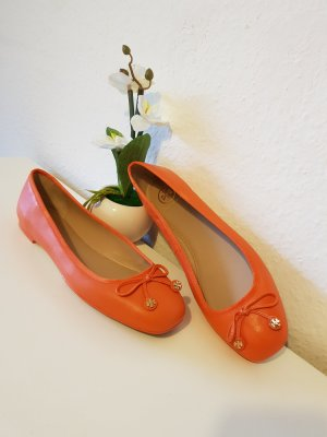 Tory Burch Mary Jane ballerina's oranje