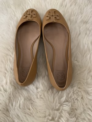 Tory Burch Ballerines Mary Jane chameau cuir