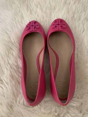 Tory Burch Ballerines Mary Jane rose cuir