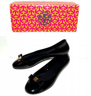 Tory Burch Patent Leather Ballerinas black
