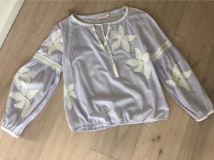Tory Burch Bluse flieder mit Stickerei Gr.6 (34/36)