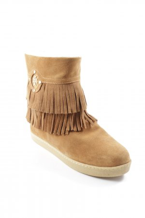 Tory Burch Booties cognac-goldfarben Country-Look