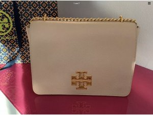 Tory Burch Britten large Tasche Light Oak
