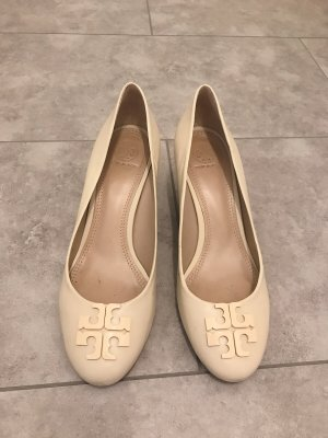 Tory Burch Wedge Pumps cream