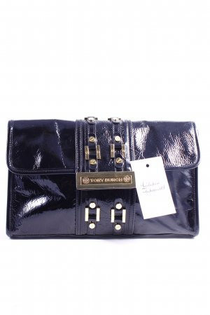 Tory Burch Clutch schwarz Glanz-Optik