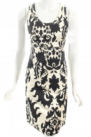 Tory Burch Cocktailkleid creme-schwarz florales Muster Party-Look