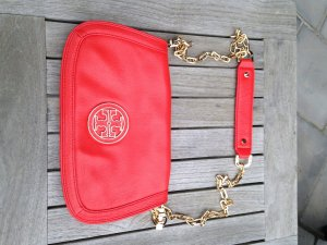 Tory Burch Cross Over Tasche rotorange