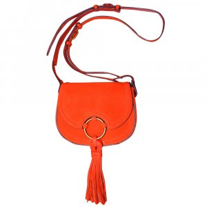 Tory Burch Crossbody Tasche aus Wildleder in Orange