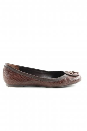 Tory Burch faltbare Ballerinas braun Casual-Look