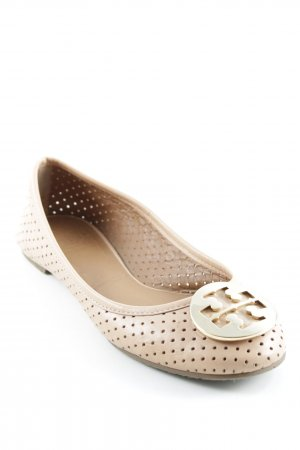 Tory Burch Bailarinas plegables beige-color oro elegante