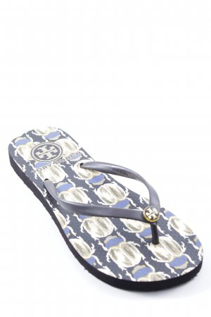 Tory Burch Flip-Flop Sandals abstract pattern beach look
