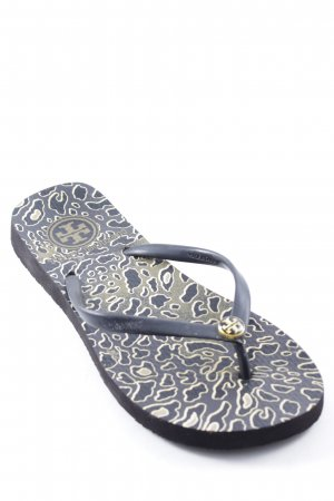 Tory Burch Flip-Flop Sandals black-gold-colored leopard pattern beach look