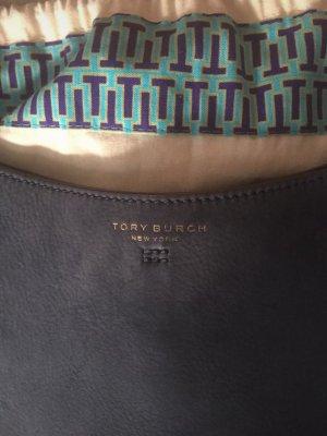Tory Burch Fringed Bag dark blue leather