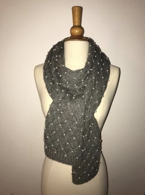 Tory Burch Scarf grey-natural white