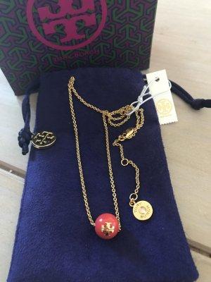 Tory Burch Halskette Gold/Rot neu mit Etikett 95€
