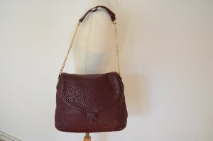 TORY BURCH Handtasche NEU! Leder Handtasche mit Goldkette bordeaux