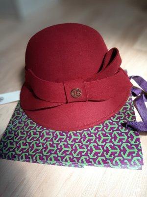 Tory Burch Vilten hoed bordeaux