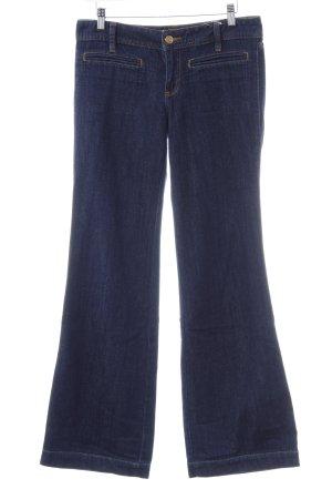 Tory Burch Jeans a zampa d'elefante blu scuro stile semplice