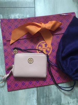 Tory Burch kleine Geldbörse Leder mit Schlüsselring rosa neu 189€