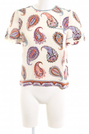 Tory Burch Kurzarm-Bluse abstraktes Muster Casual-Look