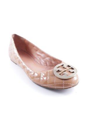 Tory Burch Ballerina di pelle verniciata albicocca Stile Brit
