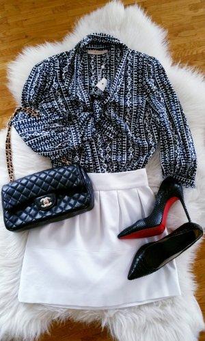 Tory Burch luxus Designer Seidenbluse elegant mit Schluppe