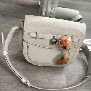 Tory Burch Crossbody bag silver-colored-grey leather
