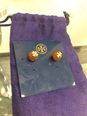Tory Burch Pearl Earring brown