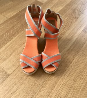 Tory Burch Wedge Sandals grey-orange