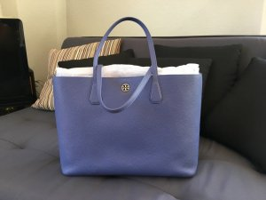 Tory Burch Perry Tote in Marlin/Silver