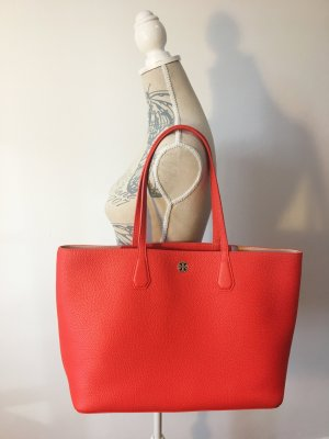 Tory Burch Perry Tote Shopper Rot Leder