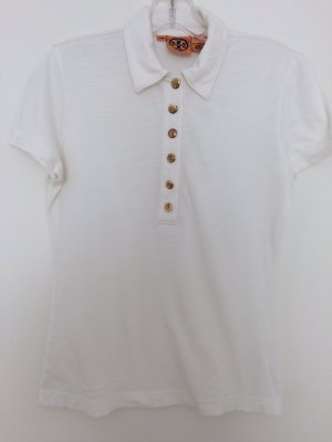 Tory Burch Polo Shirt white cotton