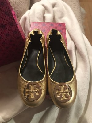 Tory Burch Reva Ballerina Gold Größe 38.5 (39) / US Größe 8