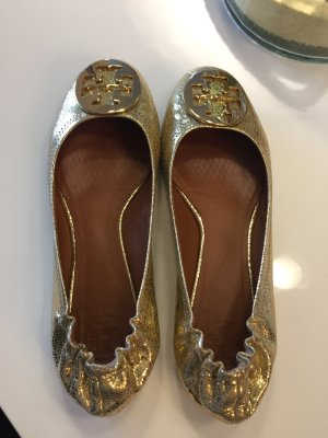 Tory Burch Reva Ballerinas Gold