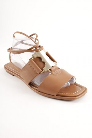 Tory Burch Roman Sandals brown casual look