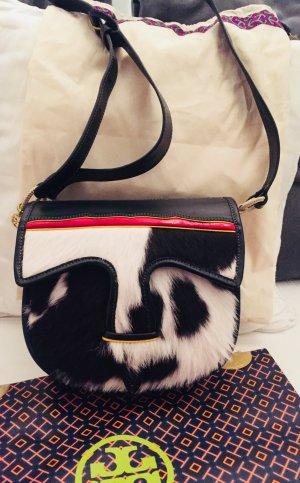 Tory Burch: Saddle Bag mit Kuhfell, Originalstaubbeutel und Einkauftstüte