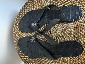 Tory Burch Toe-Post sandals black-silver-colored