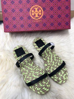 Tory Burch Strapped Sandals dark blue