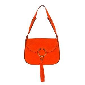 Tory Burch Schultertasche aus Wildleder in Orange