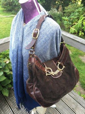 Tory Burch Shoulder Bag black brown suede