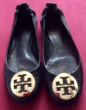 Tory Burch Patent Leather Ballerinas black-primrose