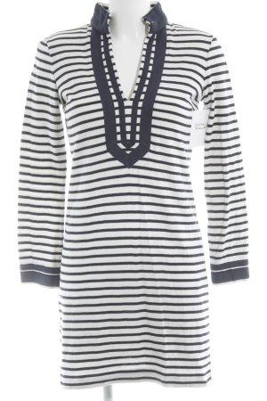 Tory Burch Shirtkleid weiß-dunkelblau Streifenmuster Casual-Look