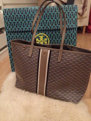 Tory Burch Shopper taupe gemustert