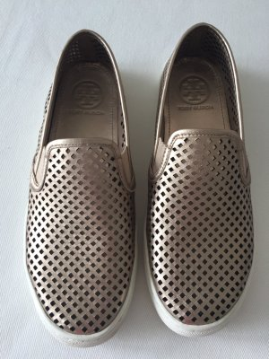 Tory Burch Slip-On Gold Must have Blogger Sneaker