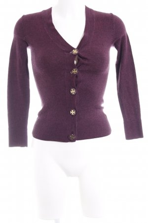 Tory Burch Strickjacke dunkelviolett Casual-Look
