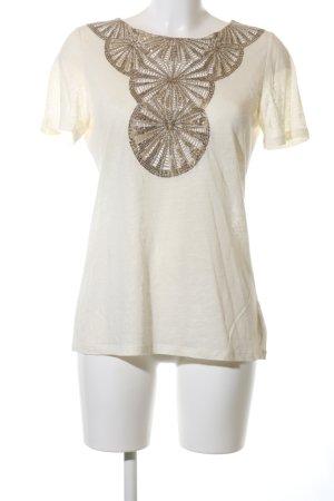 Tory Burch T-Shirt wollweiß-goldfarben Casual-Look