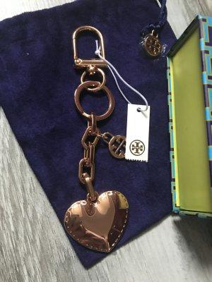 Tory Burch Taschenanhänger Schlüsselanhänger in ROSEGOLD NEU mit Etikett