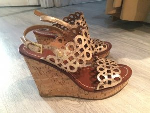 Tory Burch Wedges in Gold