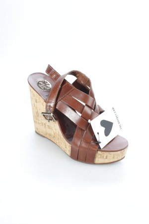 Tory Burch Wedges Sandaletten braun Beach-Look